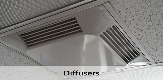 Air Deflector Filtered Supply Diffusers Air Vent